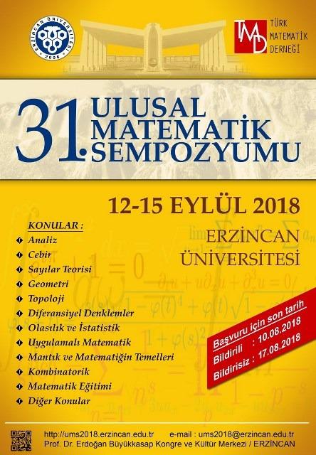 31. Ulusal Matematik Sempozyumu